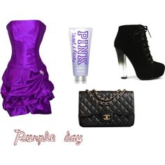Purple day by karoinesommerfugl11 on Polyvore featuring PacificPlex, Fahrenheit and Chanel