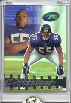 2003 ETOPPS IN HAND TERRELL SUGGS BALTIMORE RAVENS ROOKIE RC SUPER BOWL CHAMPION