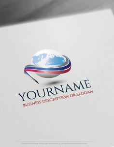 Create a Logo Free - Path Globe 3D Logo Templates Ready made Online company logo templates decorated with an image of a Path Globe 3D Logo. This professional Globe Business logos great for branding Consulting business, cargo. Globe logo designs also good as Travel agency logo, Eco & Nature and any business that wants to transmit globalization. How to design free logo online? 1- Customize This Globe logo