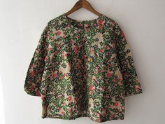 drop thrift shop purchase / Mina perhonen Actual purchase flower bed blouse / [drop]