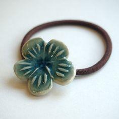 陶器のヘアゴム Flower