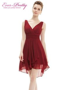 Bridesmaid Dress Ever Pretty A Line New Arrival HE03644 Ruffles V Neck Lilac High Low Bridesmaid Dresses 2016