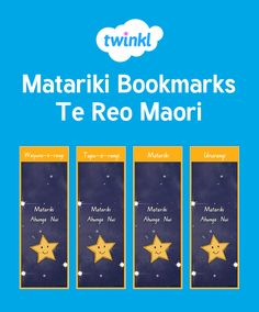 Matariki Bookmarks Early Childhood Education, Bookmarks, Your Child, Behavior, Encouragement, Names, Learning, Children, Maori