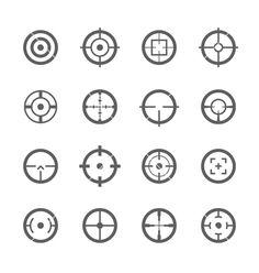 Crosshairs icons vector art - Download vectors - 1869580