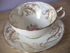 Vintage Hammersley hand painted tea cup set by ShoponSherman, $49.00
