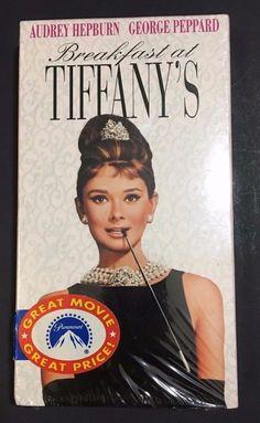 Breakfast at Tiffanys VHS 1996 Brand New Sealed Audrey Hepburn George Peppard