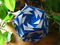 Origami ※ Tornado ※ Kusudama - YouTube