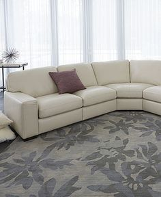 Fabrizio Leather Sectional Sofa Living Room Furniture Collection - Furniture - Macyu0027s : macys radley sectional - Sectionals, Sofas & Couches