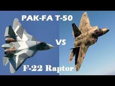 "PAK FA T-50 vs US F-22 ""Raptor"" - YouTube"