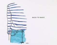 Back to basic by Marta Scupelli • www.stripe-me.com My Art Studio, English Words, Surface Pattern, Stripes, Draw, Denim, Beautiful, Drawings, Fashion