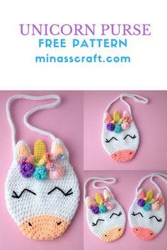 67 Ideas Crochet Bag Pattern Free Easy Sewing Projects For 2019 Crochet Girls, Crochet For Kids, Crochet Baby, Free Crochet, Ravelry Crochet, Crochet Patterns Free Easy Quick, Quick Crochet, Crochet Handbags, Crochet Purses