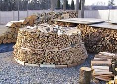 """How to build a beehive shaped """"Holz Hausen"""" wood pile (Video)"""