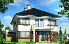 Helios to idealny dom do miejskiej zabudowy. Jego powierzchnia użytkowa wynosi 157,19 m kw. Fot. MG Projekt