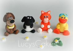 Handmade Timmy time edible cake toppers | Flickr - Photo Sharing! Cartoon Birthday Cake, Girls First Birthday Cake, 3rd Birthday Cakes, Sheep Cake, Timmy Time, Fondant Cake Toppers, Cake Toppings, Cake Tutorial, Custom Cakes