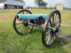 Civil war era 12-pounder Napoleon field cannon located in Gettysburg, VA. Adopted by the French in the mid 19th century, these 12 pounders were significantly lighter and more portable, and could fire solid balls, shells, and cannisters. These were the most common of the field artillery during the American Civil War.