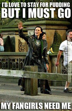 Loki, giving up the one thing he loves most for his fangirls...how could you not kneel for him?