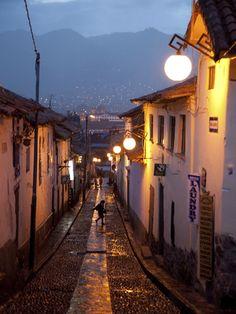 A Street in the San Blas Neighborhood in Cuzco, Perú
