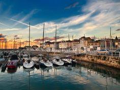 Preciosa fotografía del puerto de Gijón