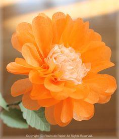$Fleurs de Papier ~クラフトパンチや花紙で作る立体のお花いろいろ~-お花紙でデイジー