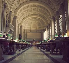 Boston Public Library, Boston, USA.