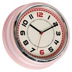 Pink Diner Wall Clock | DotComGiftShop