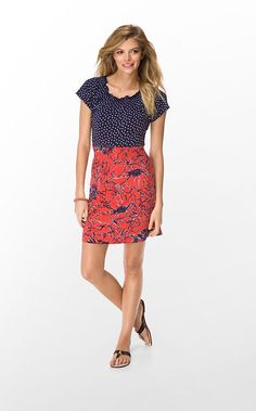 """Need this. Lilly Pulitzer """"Kelsi"""" dress from the Fall line. Could even wear for Gator football. :)"""