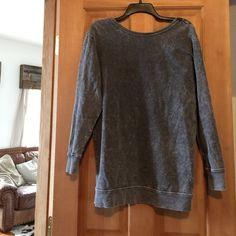 BP Nordstrom open back sweatshirt tunic Adorable and so soft and comfortable!! Nordstrom Tops Sweatshirts & Hoodies