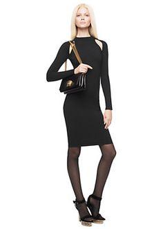 Versace - Cut-Out turtleneck dress