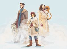 the teaser trailer still has me in a daze so here's some tv cast-inspired hdm family portraits Fanart, His Dark Materials Bbc, Lyra Belacqua, Lord Asriel, The Golden Compass, Children's Literature, Moving Pictures, Drawing People, Art Google