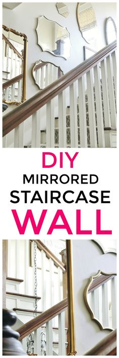 DIY Mirrored staircase