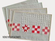 s.o.t.a.k handmade: nine patch placemats {a tutorial}