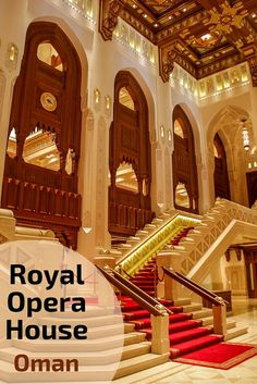 Muscat Royal Opera House in #Oman : elegant and intricate architecture and decor - check the post for many photos of the the outside and the inside http://www.zigzagonearth.com/muscat-oman-royal-opera-house/