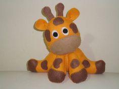 Girafa centro mesa feltro