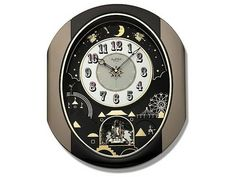 Rhythm 4MH751WD18 Small World Moving Melody Wall Clock - C5911 | F.Hinds Jewellers