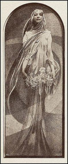 Alphonse Mucha — New Year — circa 1898