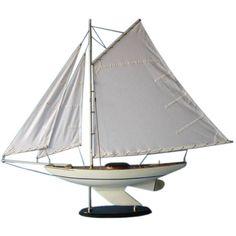 Wooden Oceanside Sloop Model Decoration 40 inch
