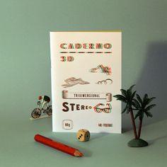 Caderno 3D  http://casaruim.com/products/caderno-3d #serrote #casaruim #portugal #tipografia #caderno 3d #