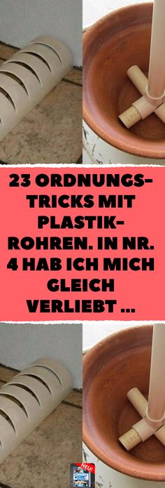 In Nr. 4 hab ich mich gleich verliebt … … 23 trim tricks with plastic pipes. I fell in love with No. 4 … 23 clever ideas for PVC pipes in the home. Diy Dining Table, Supreme Wallpaper, Diy Slime, Craft Storage, Ikea Hack, Decorating Blogs, Diy Organization, I Fall In Love, Woodworking Projects