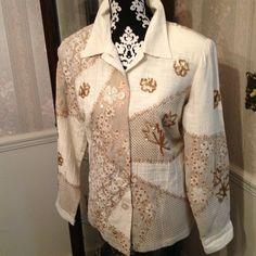 HOST PICK 3/19!Elegant Indigo Moon Jacket SALEVery Smart, Mixed-media Jacket by Indigo Moon. Well taken care of, no visible signs of wear. Indigo Moon Jackets & Coats
