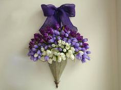 spring wreath arrangements front door wreath wall decor wedding silk flowers purple lavender wreath burlap spring  wreaths