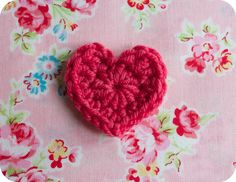 Easiest free heart crochet pattern ever.