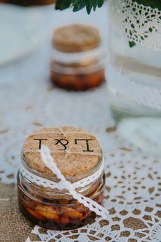 A wedding on Anafi Island | lafete, wedding favor, Greek honey, dentelle, Greek bomboniera