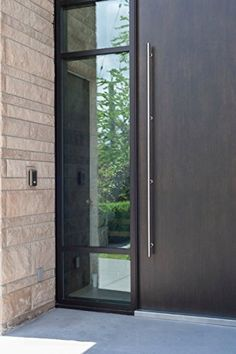 Northline Modern Brushed Stainless Steel Sus304 Entrance Entry Commercial Office Store Front Door Handlesets Wood Timber Frameless Glass Garage Aluminum Business Office Door Pull Push Handles Double-sided (60 Inches /1500x32mm), http://www.amazon.com/dp/B00L6C7P5E/ref=cm_sw_r_pi_awdm_9Ipvxb0CDY3W3