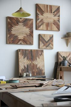 DIY wooden panels for wall decor