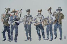 Urban Sketchers Spain. El mundo dibujo a dibujo.: Bella Auria. Sketchcrawl con el grupo de Ourense