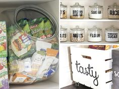 17 Pantry Organization Hacks for Instant Motivation Bathroom Storage Solutions, Small Bathroom Organization, Bathroom Hacks, Kitchen Storage, Kitchen Pantry, Organisation Hacks, Storage Organization, Diy Storage, Pantry Labels