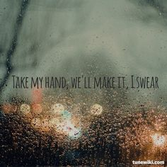 Living on a prayer. Makes me think of my dad, getting choked up every time it came on the radio. <3