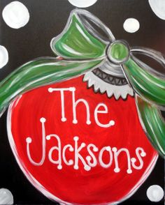 Get event details for Thu Nov 2014 - My Family Ornament. Join the paint and sip party at this Louisville, KY studio. Easy Canvas Painting, Diy Canvas, Diy Painting, Canvas Ideas, Family Painting, Winter Painting, Painted Canvas, Painting Tutorials, Christmas Art