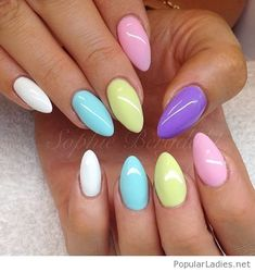 Colorful summer gel nails idea