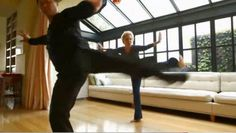 Chen style !   Bette Midler practiced Tai Chi with Grandmaster Ren Guangyi (front)